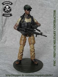 Gi joe Custom Action Figures: PMC - Private Military Contractor