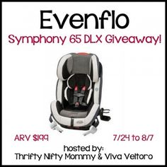 If you, or someone you know may be looking for a carseat. Look no further! Enter to #WIN an #EVENFLO Symphony Carseat 7/24-8/7/13!