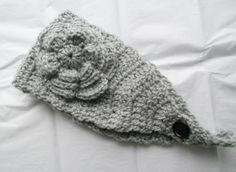 Crochet Headband Earwarmer in Silver Grey by needlepointnmore, $12.00