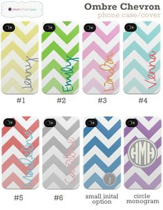 Ombre Chevron - Custom iPhone Case- I want!!! Give me number 6!!! If I ever get an iphone