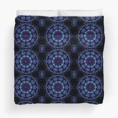 Blue & Pink Floral Fractal Pattern