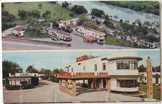 Longhorn Lodge, Brownsville TX. Vintage motels.