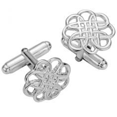 382980700 These hallmarked Open Celtic Knot design men's sterling silver cufflinks  are the ultimate accessory to compliment