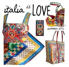 """""""Italia is Love with Dolce & Gabbana"""" by candibyamyh ❤ liked on Polyvore featuring Dolce&Gabbana, dolceandgabbana, polyvoreeditorial, summerbrights and summer2016"""