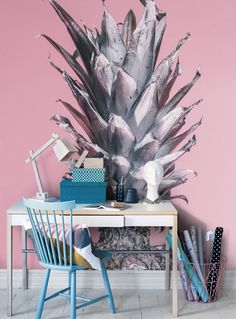 Pink pineapple Tapet