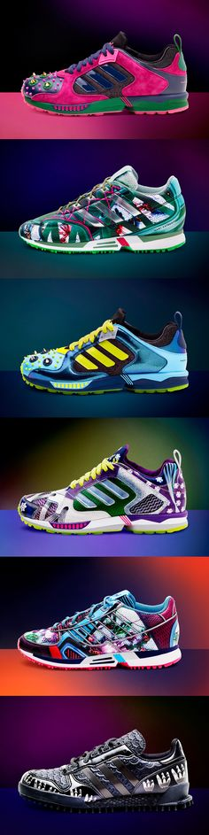 6 gorgeous and colourful sneakers from the Mary Katrantzou for Adidas collection.