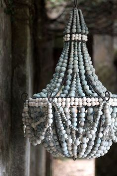 a very feminine, baby blue chandelier – one of 8 picks for this week's Friday Fa… - handmade chandelier Blue Chandelier, Handmade Chandelier, Beaded Chandelier, Chandeliers, Chandelier Lighting, Bathroom Chandelier, Rustic Chandelier, Decorating On A Budget, Interior Decorating