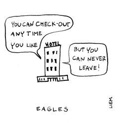 Eagles. Hotel California. 365 illustrated lyrics project, Brigitte Liem.