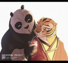 Po And Tigress, Zootopia Comic, Furry Oc, Manga, Comics Love, Dragon Warrior, Panda Art, Romance, Kung Fu Panda
