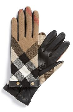 Free shipping and returns on Burberry Check Wool Gloves at Nordstrom.com. Cozy, check-print wool complements silky leather on a timeless pair of gloves lined in cashmere for wonderful comfort.