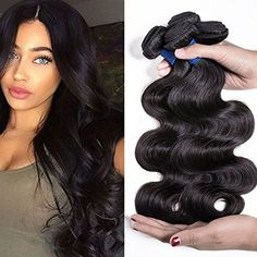 "SILKY 9A Brazilian Virgin Hair 4 Bundles 100% Unprocessed Body Wave Human Hair Extensions Natural Color (18""20""22""24"")"