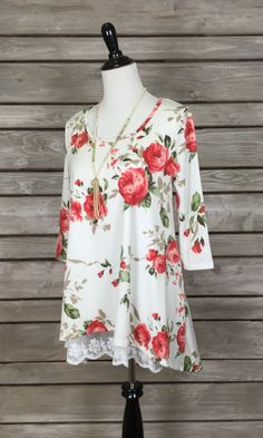 Pick Me Tunic with Lace Lining - IVORY FINAL SALE