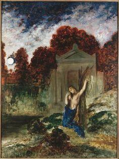 Orphée sur la tombe d'Eurydice Moreau 1891