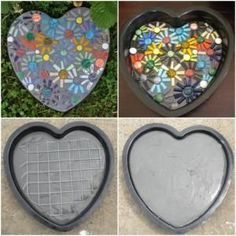 Mosaic Stepping Stone! by christina carrera
