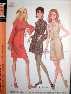 McCalls Dress Pattern No 9585 UNCUT Vintage by CaliforniaSunset