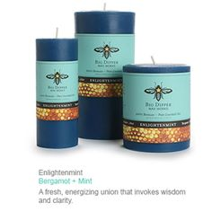 Divine Bergamot In These Amazing Beeswax Candles!  Everyone Wins With These! http://www.honeycolony.com/shop/beeswax-aromatherapy-pillars-bergamot-mint/