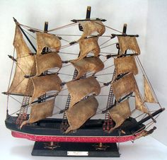 Vintage Wooden Ship. Sea Witch Clipper 1846 Model by QVintage, $50.00