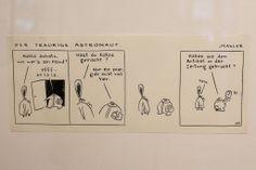 Der Traurige Astronaut German Language, Austria, Comic Art, Illustrators, Astronauts, Linz, Sad, German, Deutsch