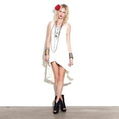 Villa Dress Ivory, $65, now featured on Fab.