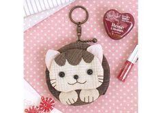 """Kit de patchwork Japonais """" porte monnaie chat"""""""