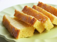 Original 1810 recipe for pound cake.  Mix one pound each of sugar, flour, eggs, milk, then bake until golden brown.