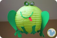Lantern frog with free pattern...cute! @Lynda Walton W