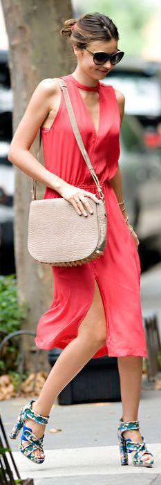 Red Spring Dress for Miranda Kerr