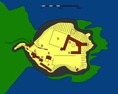 Plan of Dunnottar Castle