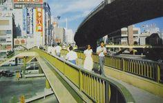 """""""昭和40年代 渋谷駅前 歩道橋 「グラフィックカラー昭和史」より"""" Japan Landscape, Japanese History, Tokyo Olympics, Summer Games, The Old Days, Tokyo Japan, Landscape Photographers, Sunrise, Nostalgia"""