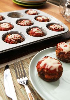 Mini Italian-Style Meatloaves – Easy and cheesy, it doesn't get much better than this. They take just 15 minutes to prep for the oven, 45 minutes and they're ready for the dinner table. The Italian seasoning, spaghetti sauce, and KRAFT Shredded Mozzarella Cheese up the Italian flair. Is there anything bad to say about these mini muffin-tin meatloaves? We rest our case.