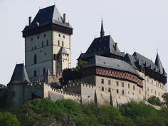 Karlstejn Castle - one of the key travel points south-west of Prague, the old medieval seat of kings. Built by the Roman-German-Bohemian emperor Charles IV to protect the Czech cronation jewels