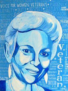 Woman Veteran - Gabe  http://michelle-wilmot.artistwebsites.com/featured/woman-veteran-gabe-michelle-wilmot.html