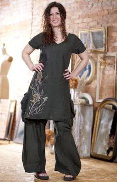 Linen Dahlia Trouser UnPrinted Was $168 : Blue Fish Clothing