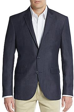 $650, Regular Fit Wool Linen Blazer. Sold by Off 5th. Click for more info: https://lookastic.com/men/shop_items/223878/redirect
