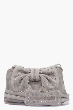 Droooooling! 3.1 Phillip Lim Edie Studded Bow Bag in Cement, $695