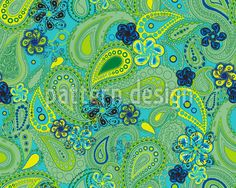 Rusalka Dreams Of Paisley Repeating Pattern
