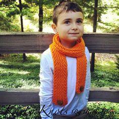 57d87cc6521 Child Knit Pumpkin Orange Original Wrap by KnitsnKnotsBellaBina