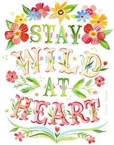 Wild+at+Heart++Vertical+Print+por+thewheatfield+en+Etsy,+$18,00