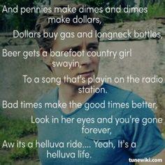 Frankie Ballard ~ Helluva Life, fave song