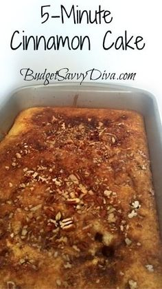 This is delicious!! My coworkers ate this up fast... You MUST make this cake - whip it up in 5 minutes and done in 30 . VERY frugal.