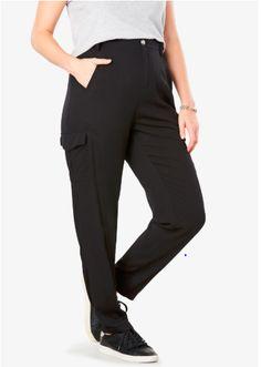 0aa1faaa48f Lightweight Cargo Pocket Pant by Chelsea Studio® Plus Size Dresses