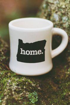 Oregon Ceramic Coffee Mug by HomeStateApparel on Etsy