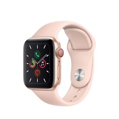 Apple Watch Series 5 (GPS + Cellular, 40 mm) Boîtier en Aluminium Or - Bracelet Sport Rose des Sables - Streel Belgium Apple Watch Series 3, Buy Apple Watch, Apple Watch Bands, Apple Band, Pc Cases, Phone Cases, Smartwatch, Cool Watches, Watches For Men