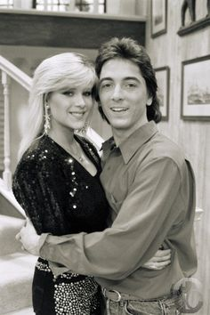 Scott Baio and Samantha Fox in CHARLES IN CHARGE ep. # 5.8 'Paper Covers Rock'.