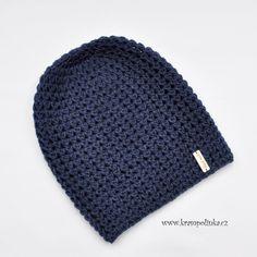 Knitted Hats, Crochet Hats, Dark Denim, Diy And Crafts, Homemade, Knitting, Beanies, Advent, Fashion