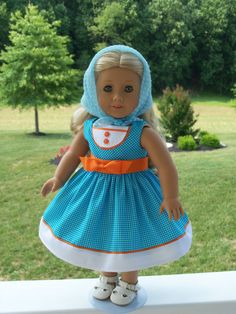 Repro of AG design soon to be released for AG doll Maryellen Larkin, w/Scarf by Farmcookies on Etsy $45.00