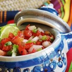 This salsa is the bomb! I got tons of compliments on it - click for recipe