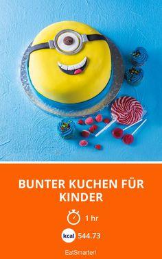 Colorful cake for kids - Kindergeburtstag - Kuchen Minions, Minion Torte, Naked Cakes, Home Grown Vegetables, Cake Blog, No Bake Cheesecake, Christmas Party Invitations, Colorful Cakes, Cake Creations