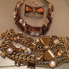 Betsey Johnson make offer!!!! Bronze and gold bracelet, ring and necklace. In perfect condition. I never wear it!! Betsey Johnson Jewelry