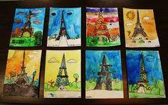 Eiffel Tower art project